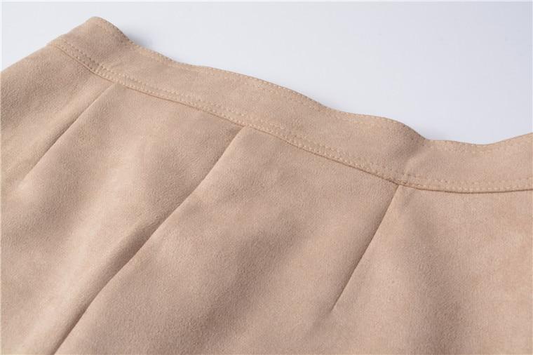 Neophil 19 Winter Women Suede Button Mini Vintage Style A Line Skirts High Waist Black Wrap Ladies Short Skirt Tutu Saia S1001 19