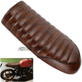 motorcycle Brown Flat Custom Vintage Saddle Cafe Racer Seat For Honda CB125S CB200 CB350 CL350 CB400