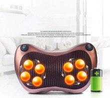 12 massage balls back pillow Rechargeable car home cervical Wireless electric neck massager 8 heads