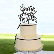 Personalised Name Wedding Cake Toppers. Gold Glitter Custom Name. Theme party Toppers