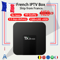 Arabic French IPTV Box TX3mini Android 7 1 TV Box Amlogic S905W 2G 16G Europe France