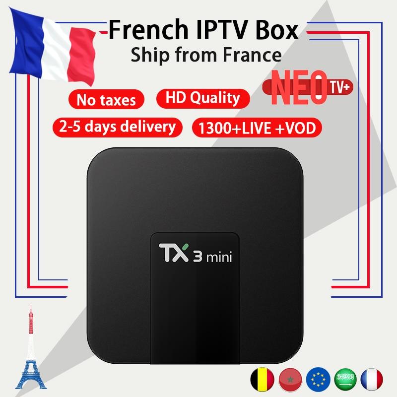 Arabic French IPTV box TX3 mini Android TV Box 7.1 Amlogic S905W 2G 16G IPTV Europe France Beluigm Morroco M3U smart tv box мультиварка ves electric sk a18 900 вт 5 л черно серый