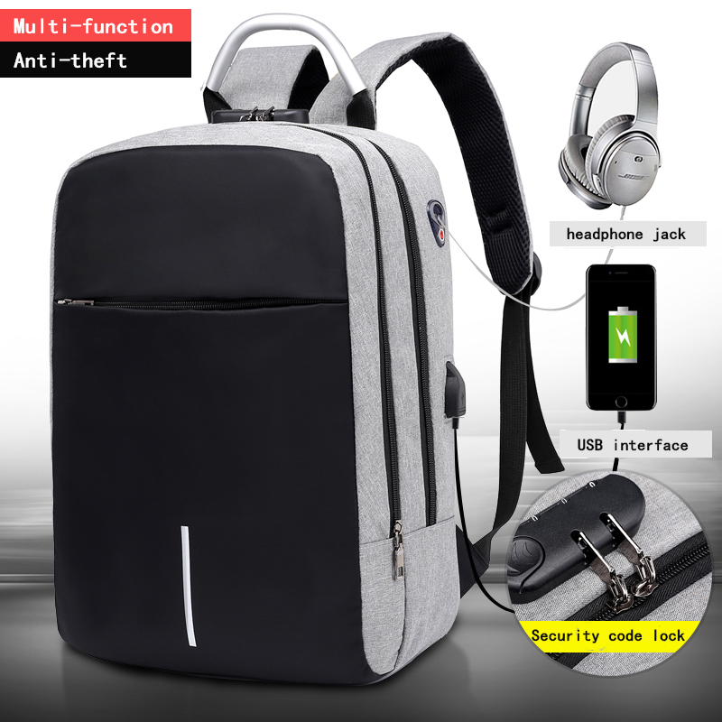 OUBDAR Schoolbag Backpacks Laptop Travel-Bags Usb-Charging Business Multifunction Waterproof