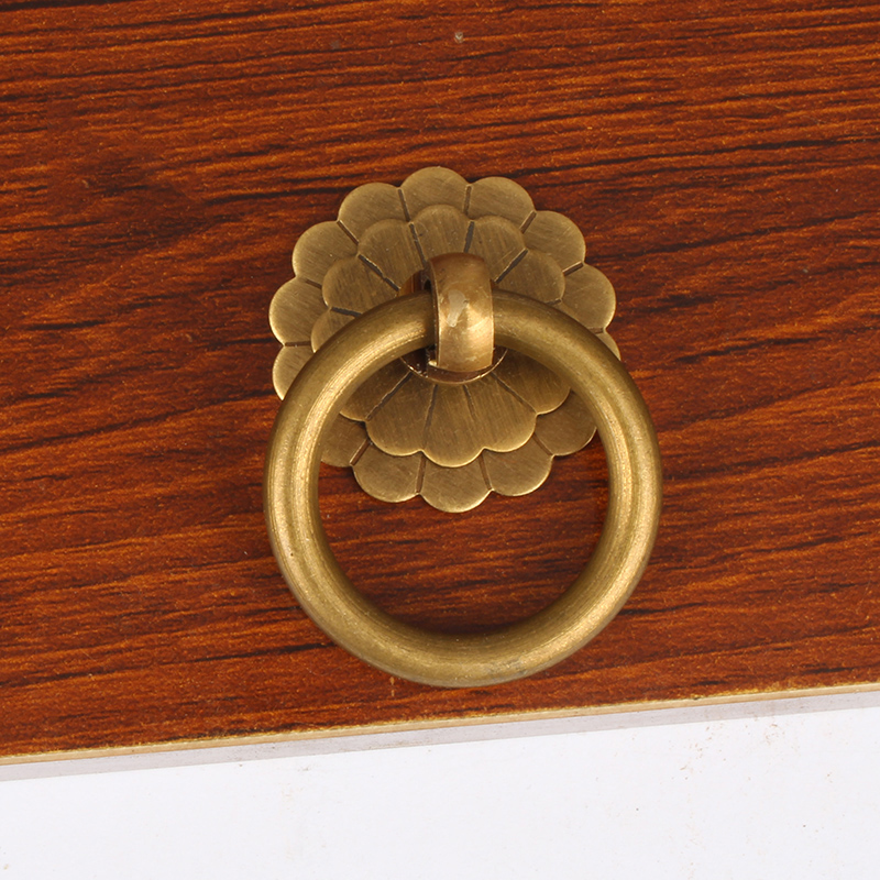 "10/"" Chinese Fortune Brass Cabinet Face Plate Door Pull Furniture Hardware"