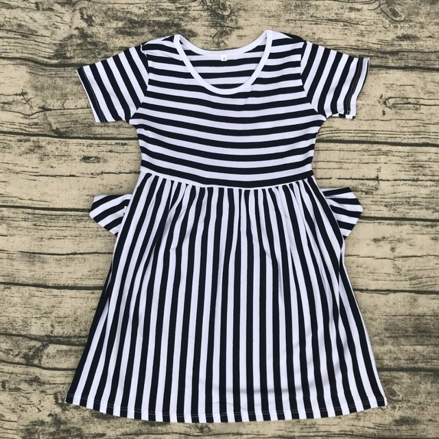 de08a920d54 children round neck xxx bf photo dress with pocket wholesale summer baby  fashion clothes girls party dress