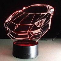 Lamborghini Modell Lampe 7 Farbwechsel Led Nachtlicht Festival Laterne Weihnachtsdekoration Versorgung Leuchten Zubehör Party Favors