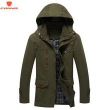 2018 3 color large size polyester Slim new men's casual jacket spring and autumn hooded jacket jacket men's trench coat