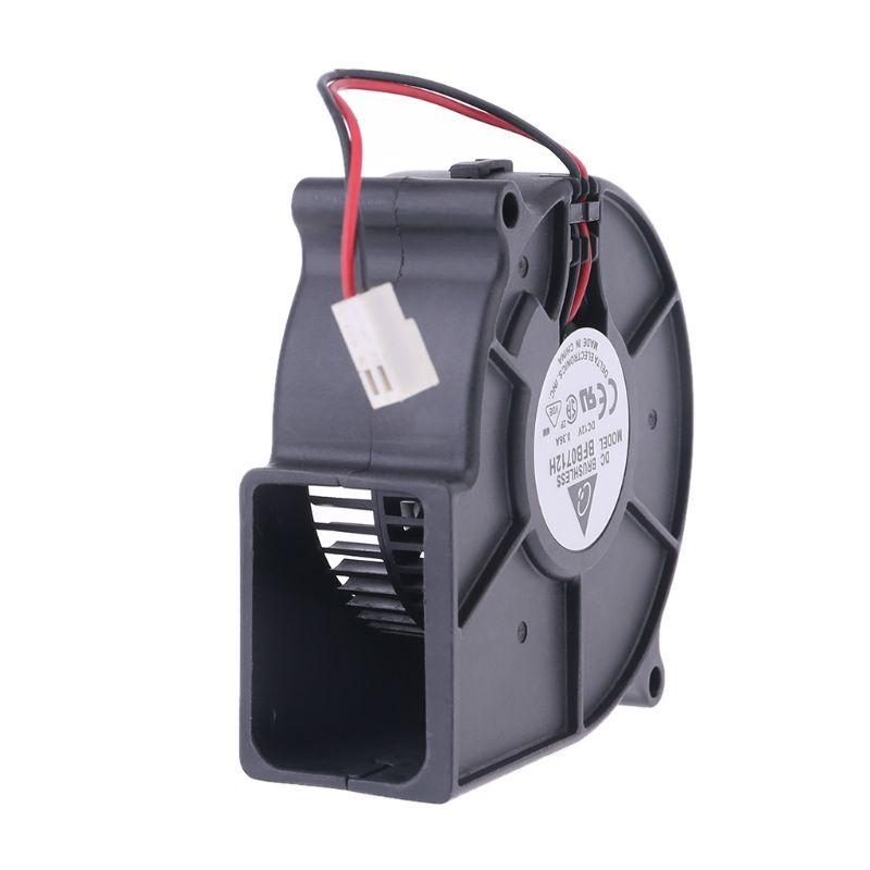 1Pc 50x15mm Brushless DC Cooling Blower Fan Exhaust Fan DC 12V 0.06A 5015S Black