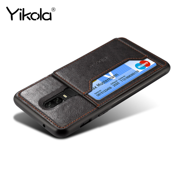 san francisco 36f74 3e6c0 US $4.77 |Yikola luxury TPU credit card phone case for Oneplus 6 6T car  magnetic holder back cover for Oneplus 5T crazy horse pattern-in Fitted  Cases ...
