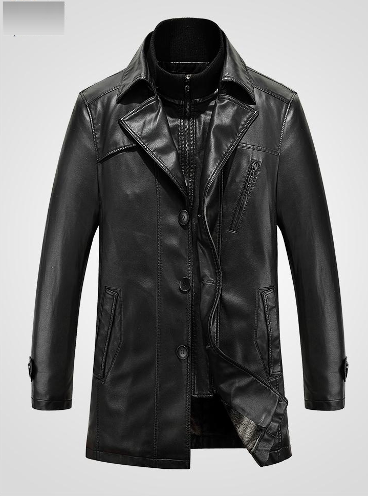 2016Winter Brand Retro Man Leather Jacket Men Clothing Leather Jackets Jaqueta Couro Masculino Motorcycle Thicken Coat Outerwear