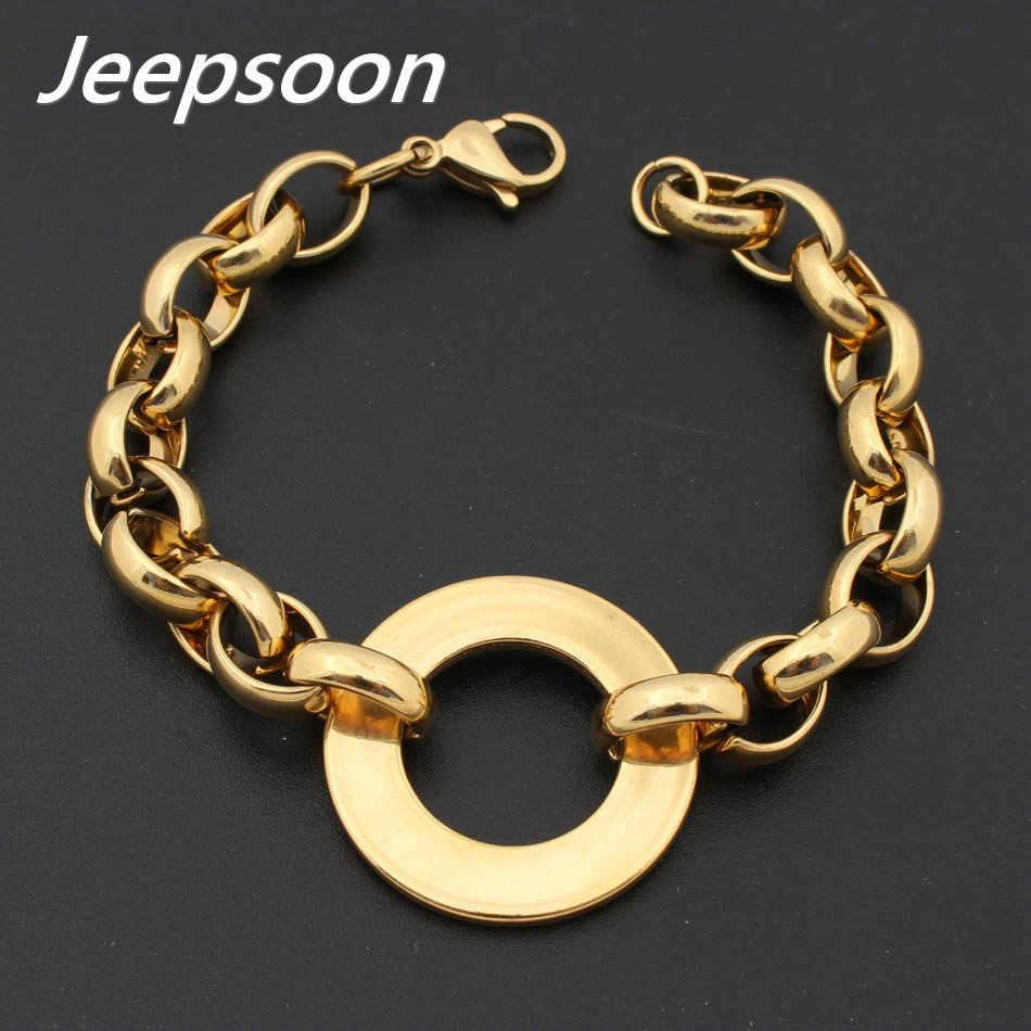 Stainless Steel Perhiasan untuk Wanita Bulat Gelang Rantai Kualitas Tinggi Warna untuk Memilih Jeepsoon Bgegaaaj