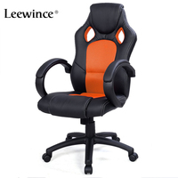 Adjustable Office Chair Faux Leather Racing Style Reclining Computer Gaming Game armchair To Work An Office Chair Sports