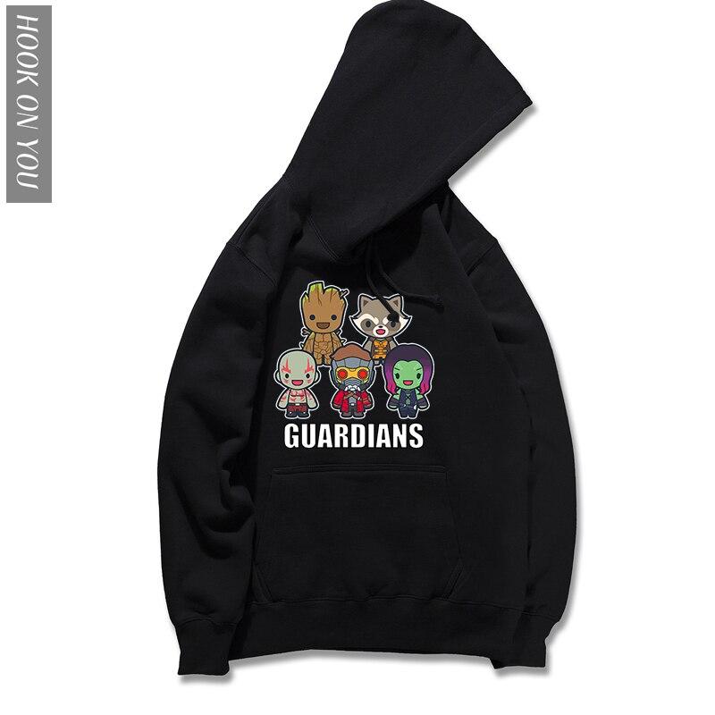 2018 New Hoodie Guardians of the Galaxy 2 Hoody men Anime pop groot Autumn funny GUARDIANS Sweatshirt Cool Loose Hoodies Hip Hop