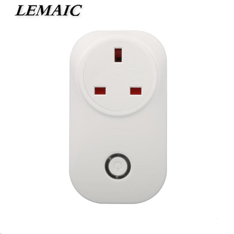 LEMAIC AC 110-240V UK WiFi Smart Socket Smart Plug w/App Control Support Amazon Alexa Voice Control Remote Control Switch ac 110v 220v wifi smart outlet power socket app wireless remote control timer switch support amazon alexa voice control us plug