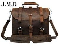 100% Couro Genuíno Couro de Cavalo Louco dos homens mochilas de Trekking Saco Saco De Viagem No Ombro Messenger Bag Bolsas 7072