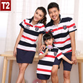 2015 Matching Father Mother Daughter Son Clothes Family Look Family Matching Clothes Polo Parent-child Outfit  Ma e Filha