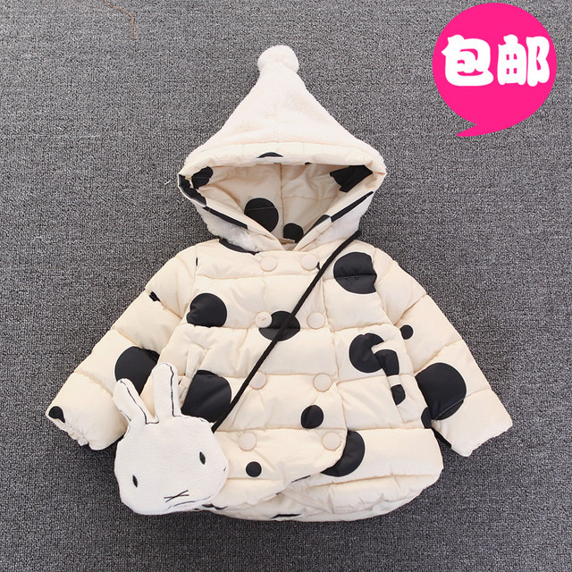 2016new Infant children's clothing winter female child thickening cotton-padded jacket outerwear down cotton clothes 0-1 - 2 - 3