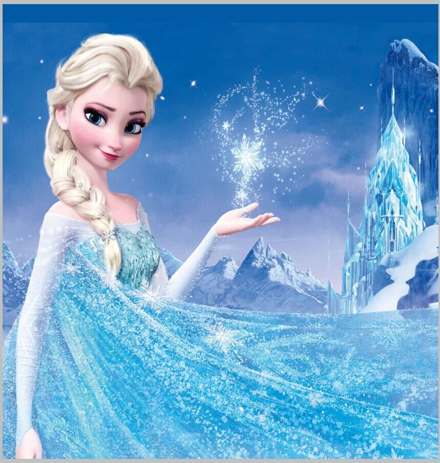 8x8ft queen elsa princess snow flakes crystal palace