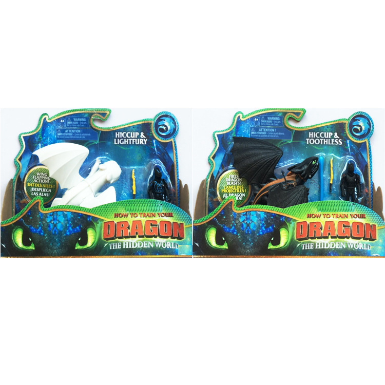 Dragon-Model Figure Toy Train Toothless Movie 3-Action-Toys Night-Fury Black/white Your
