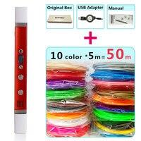 Myriwell 3d Pens 10 5m ABS Filament LED Display USB Charging Creative 3d Pen Doodler Gift