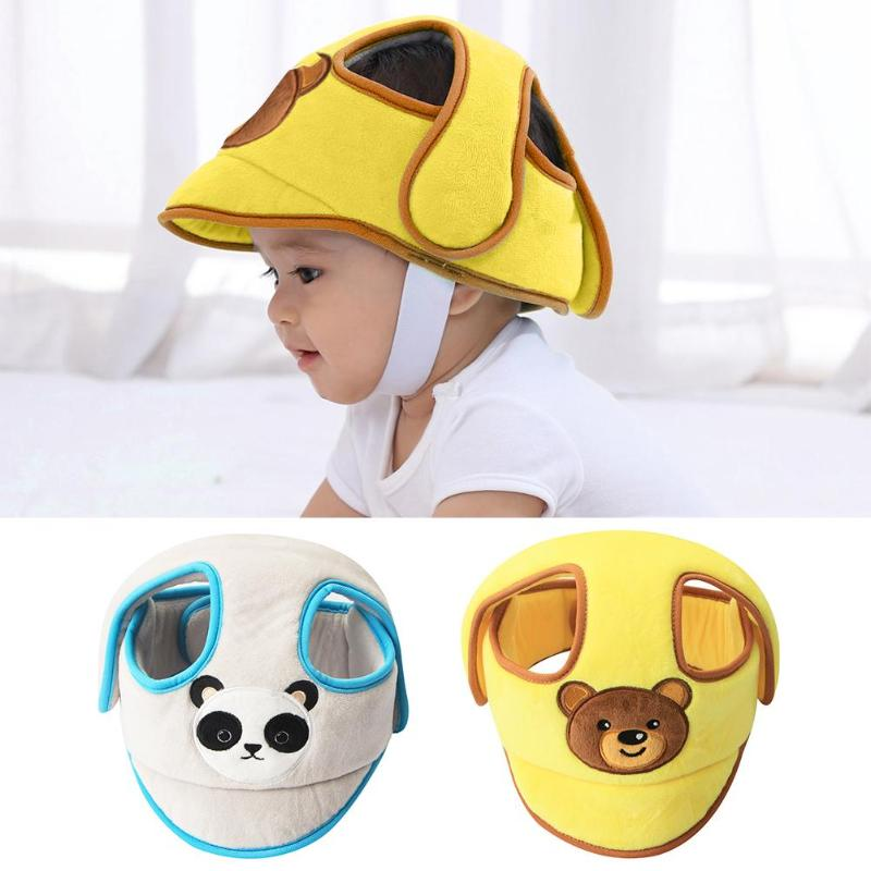 Soft Baby Anti-fall Head Protection Cap Adjustable Anti-collision Helmet Infant Toddler Walking Soft Hat Baby Protective Helmet