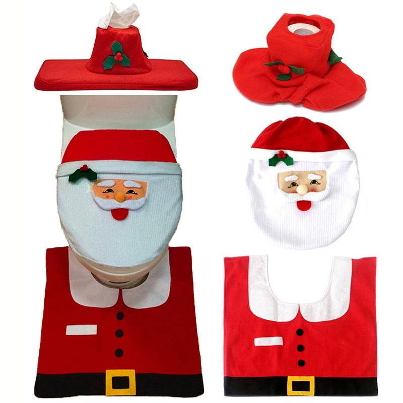 decoracao de natal para interiores de casas : decoracao de natal para interiores de casas: de-Natal-Feliz-natal-Papai-Noel-Tampa-de-Assento-Do-Toalete.jpg