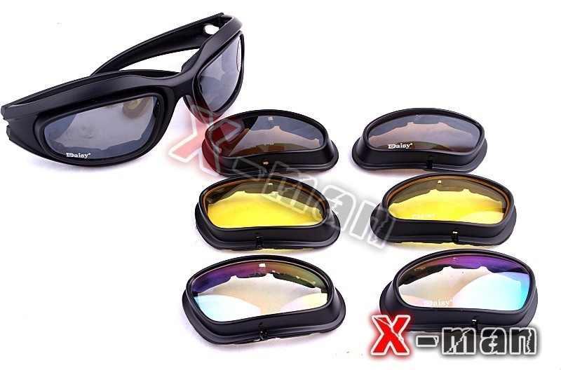 a4d1a59ec7c6b ... hunting C5 Desert Storm Sunglasses 4 lenses Goggles Tactical Eyewear  Cycling Riding Eye Protection