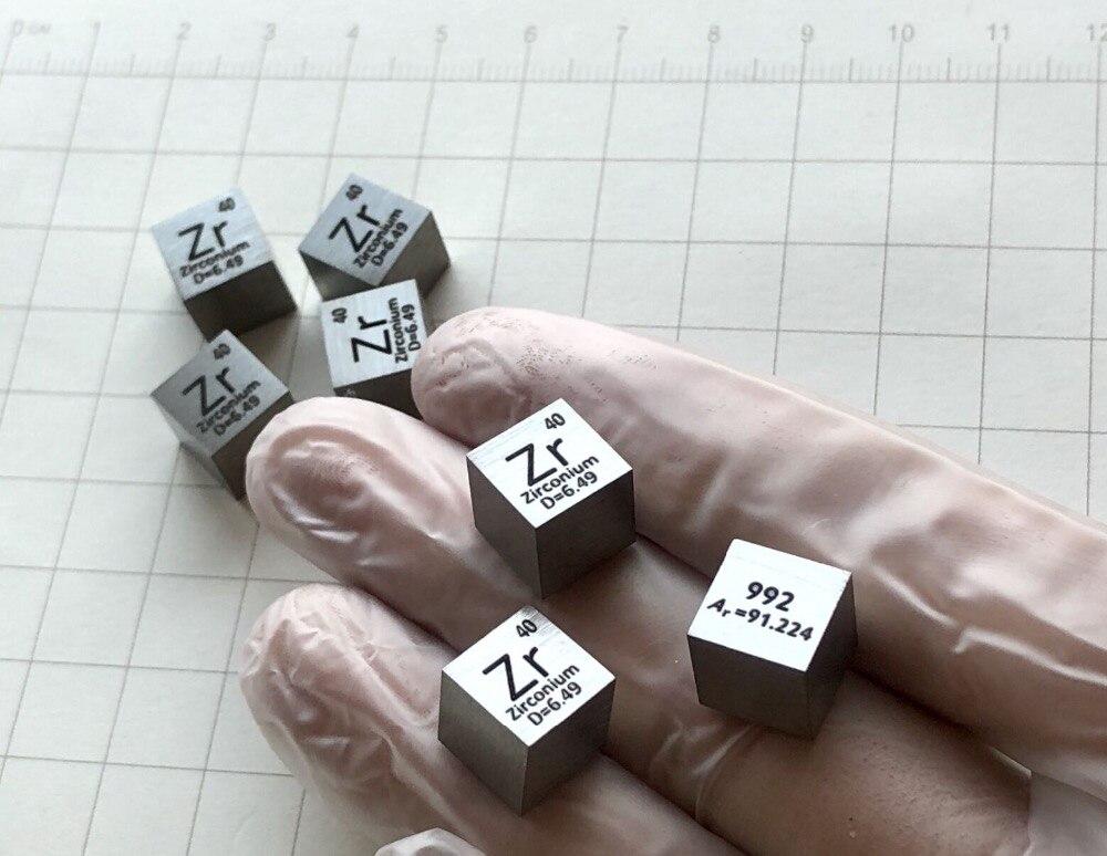 Bloc de Cube pur 99.99% Zr tableau périodique en vrac d'éléments métalliques de terres rares pour la Collection industrielle de laboratoire de recherche