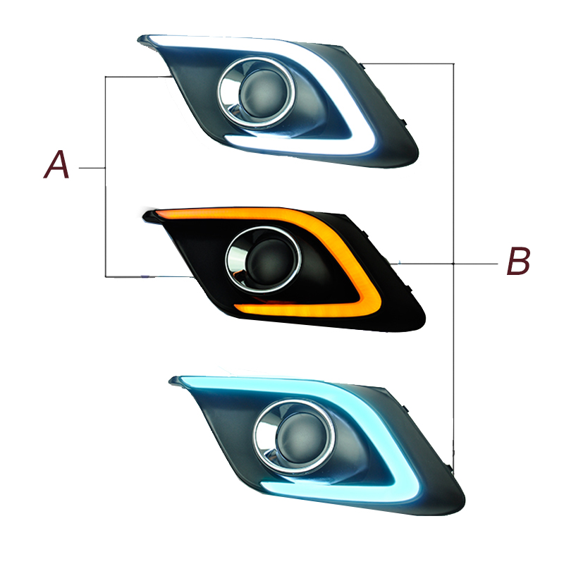 New Car Accessories LED DRL Daytime Running Lights Daylight Fog light LED fog lamp for MAZDA 3 AXELA 2014 2015 car styling daytime running light auto fog lamp for b mw e90 3 series led daylight drl