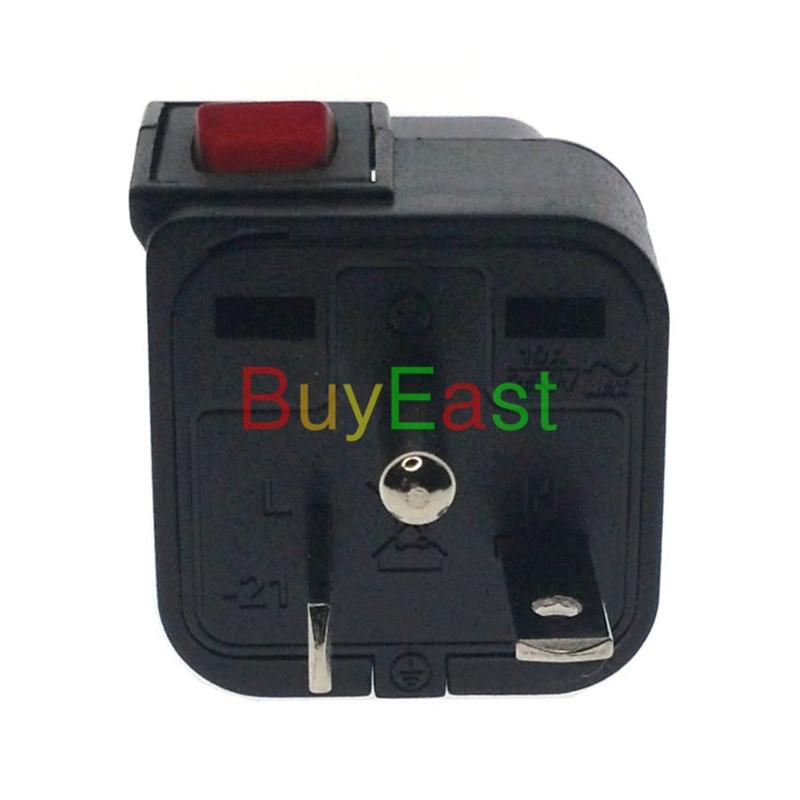 2 X WONPRO North American NEMA 6-20P 3 Way Multi Outlet Electrical Plug Adapter convert EU/UK/US/AU With LED Mian Switch eu us uk au plug outlet