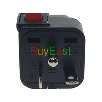 2 X WONPRO North American NEMA 6 20P 3 Way Multi Outlet Electrical Plug Adapter convert EU/UK/US/AU With LED Mian Switch