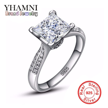 ФОТО lose money big sale new 100% solid silver ring jewelry 3ct cz diamond engagement rings for women 925 sterling silver ring axr038