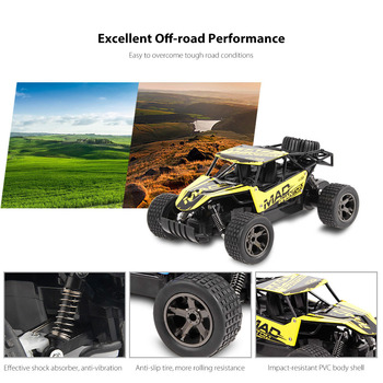2.4 GHz 2WD Off-Road Brushed RC Car - UJ99 4
