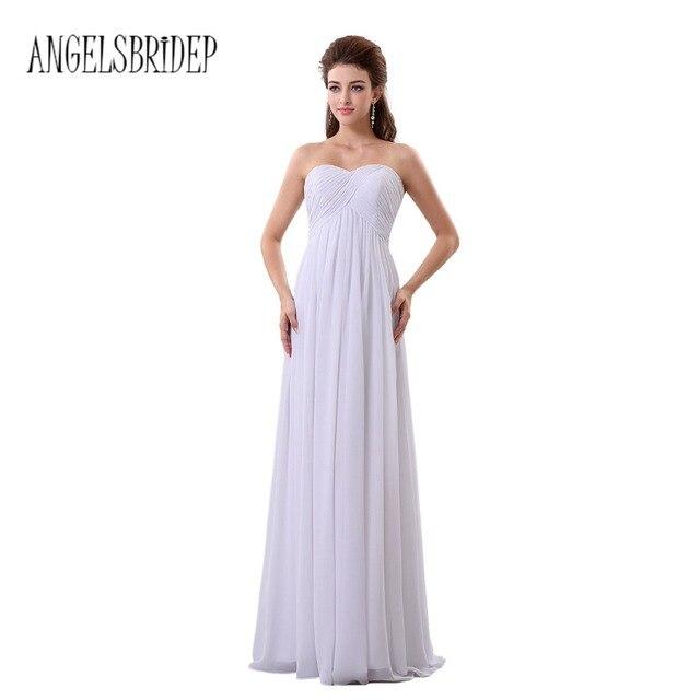 Aliexpress.com : Buy ANGELSBRIDEP White Cheap Chiffon Wedding ...