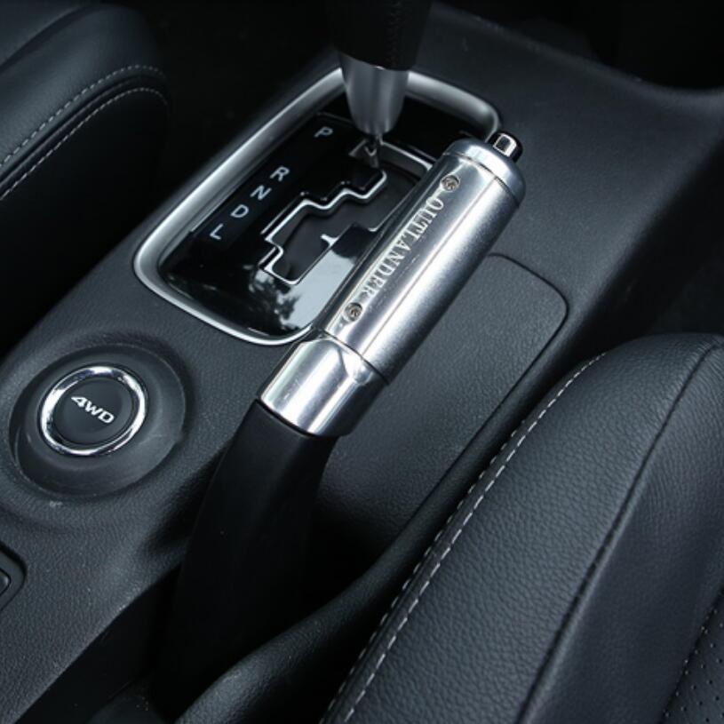 Car-styling Aluminium alloy handbrake modified trim decoration cover case For MITSUBISHI Outlander 2013-2017 2016 car styling stainless steel handbrake sequined internal decoration for mitsubishi asx 2015