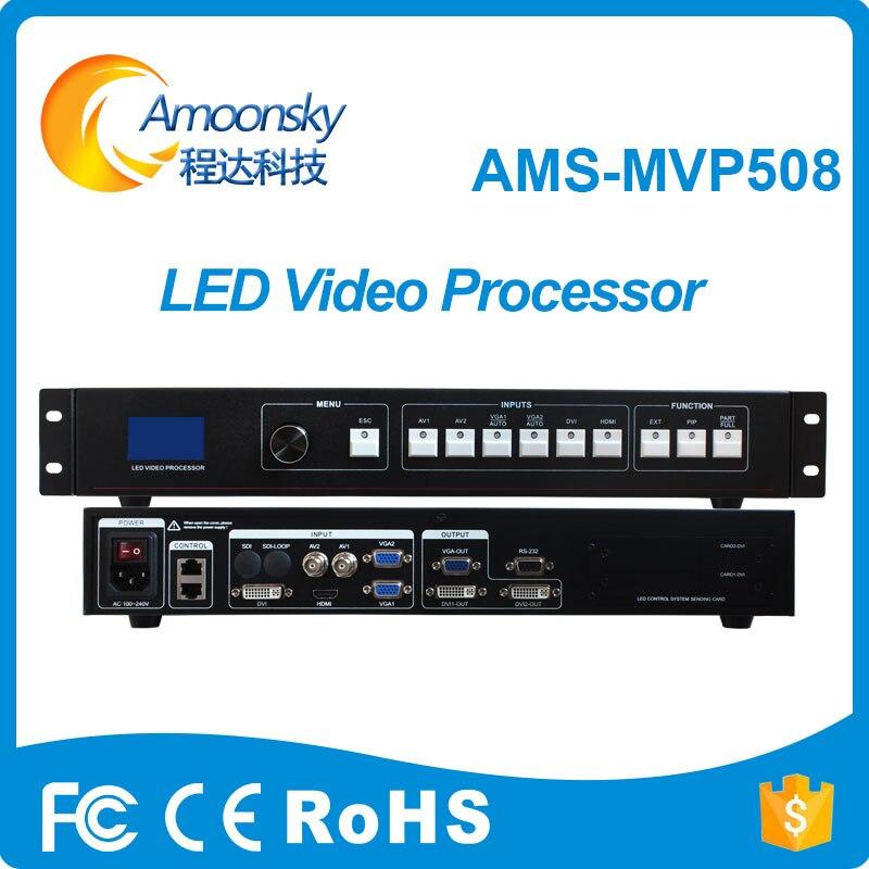 Amoonsky mvp508 a mené l'affichage mené la publicité de tissu de écran led de processeur d'affichage vidéo numérique
