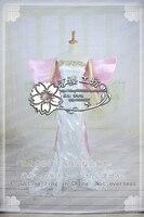 Anime Sailor Moon Kraliçe Serenity Cosplay Kostüm Parti Elbise Kıyafet Elbise + Bow