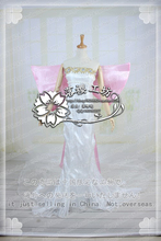 Anime Sailor Moon Queen Serenity Cosplay Costume Party Dress Outfit Dress+Bow