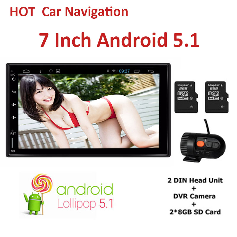 "7"" 2Din 1024*600 Android 5.1 Car radio 2 din Universal For Nissan GPS Navigation BT Stereo Audio Player(No DVD) autoradio"