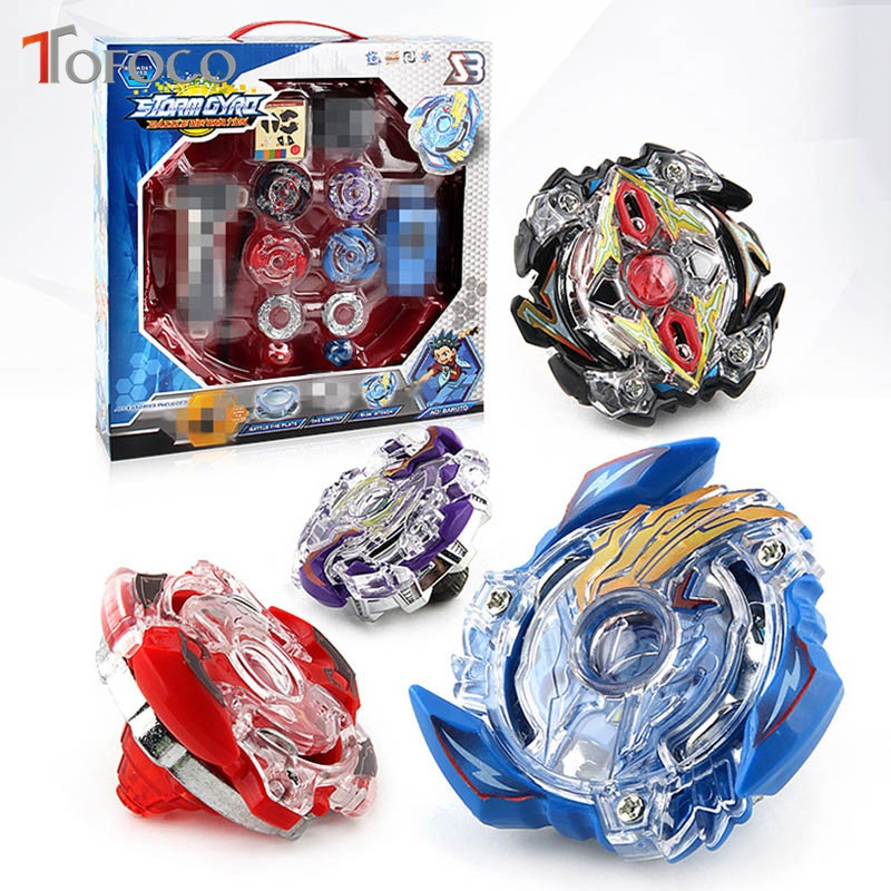 TOFOCO 4Pcs/Set Toupie Beyblade Burst Arena Bayblade Metal Fusion B-34 B-59 4D Battle Metal Top Fury Master Launcher Kids Toy топор fusion battle ax sog
