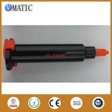Free Shipping 5cc/ 5ml Black Syringe Barrel Set Liquid Dispensing Pneumatic Syringe With Piston/Stopper & End Cover