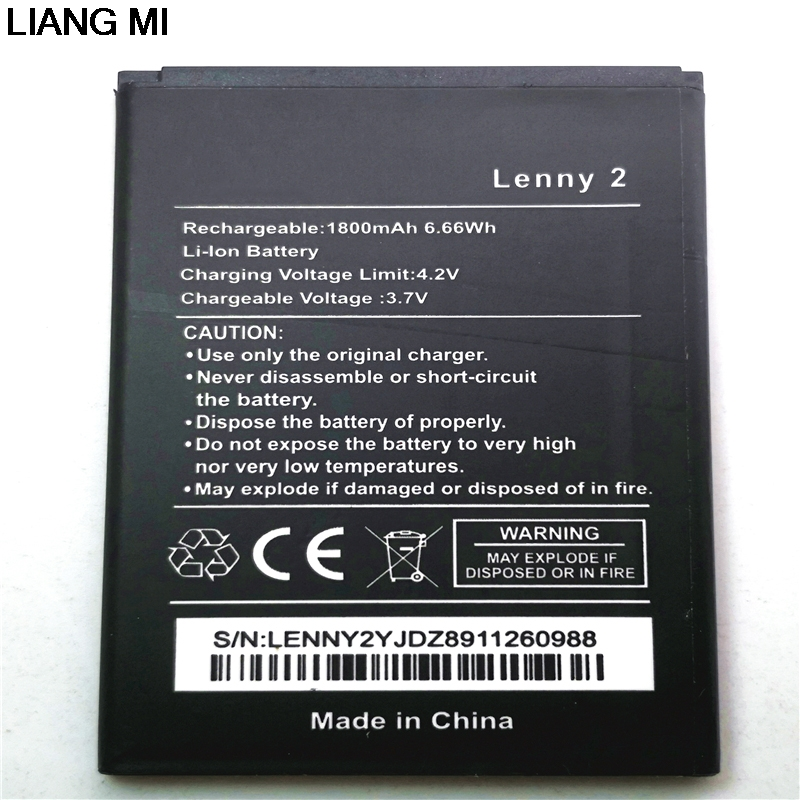 Téléphone portable Batterie Pour Wiko Lenny 2 3.7 v 1800 mah Haute Qualité Téléphone Remplacement Batteries Bateria avec téléphone stander pour le cadeau