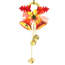 2017 Cute Bells Hanging Ornament Decor Pendants Christmas Tree Baubles Cristmas Tree Decoration 25*12cm(China)