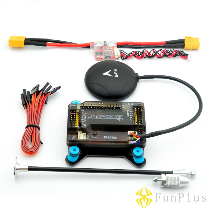 APM 2.8 Flight Controller with Shock Absorber 5V 3A Power Module XT60 NEO M8N GPS 6M GPS Remote Controller Helicopter Airplanes naza m lite multi flyer version flight control controller w pmu power module