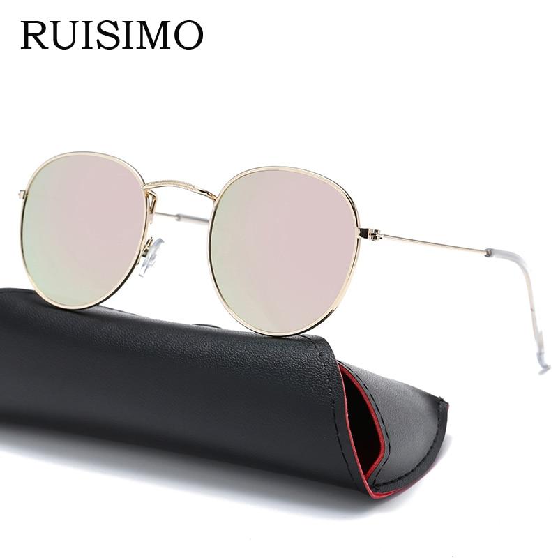 Vintage Ochelari de soare rotunde Femei barbati feminin marca Rame de ochelari Oglinzi Ochelari de soare Pentru femei retro Masculin retro de sol