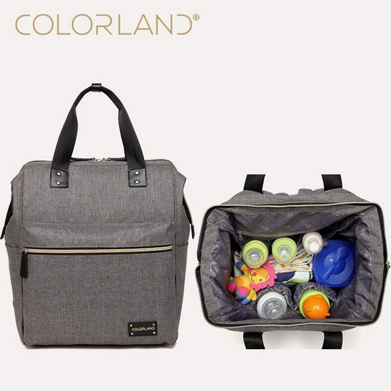 buy colorland backpack baby diaper bag nappy bags maternity mommy handbag. Black Bedroom Furniture Sets. Home Design Ideas