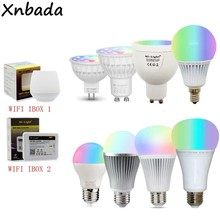 Mi light Dimmable MR16 GU10 E14 E27 4W 5W 6W 9W 12W Led Bulb Spotlight,2.4G RF CCT/RGBW/RGBWW/RGB+CCT Led Lamp(China)