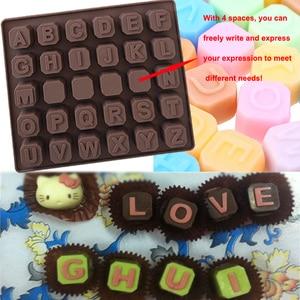 Image 3 - WALFOS 26 אותיות באנגלית 4 לוח שוקולד סיליקון עובש סוכריות קרח קוביית עובש מאפה סבון עובש עוגת פונדנט DIY אפייה כלי