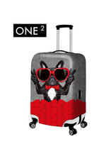 ONE2  Christmas Travel Colored Drawing Suitcase Covers Dirt-proof Case Accessories apply to 18-30 inch Luggage