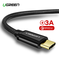 Ugreen Nylon USB Type C Cable for Samsung Galaxy Note 9 S9 S8 Fast Charging Data Cable for Xiaomi Mi6 Huawei Nexus 6P USB Type-C